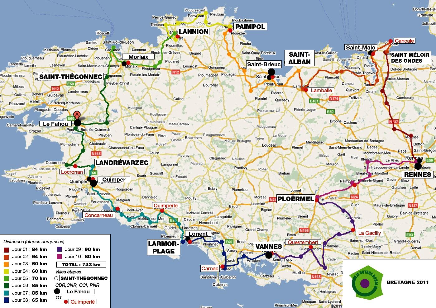 Carte touristique bretagne carte for Carte touristique